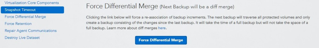datto siris force differential merge button