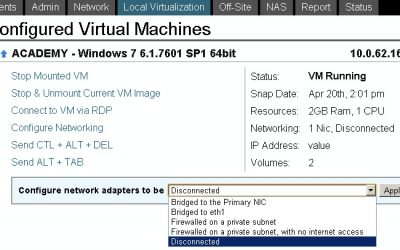 Configure Networking Type of Virtual Machine on Datto SIRIS. It's easy