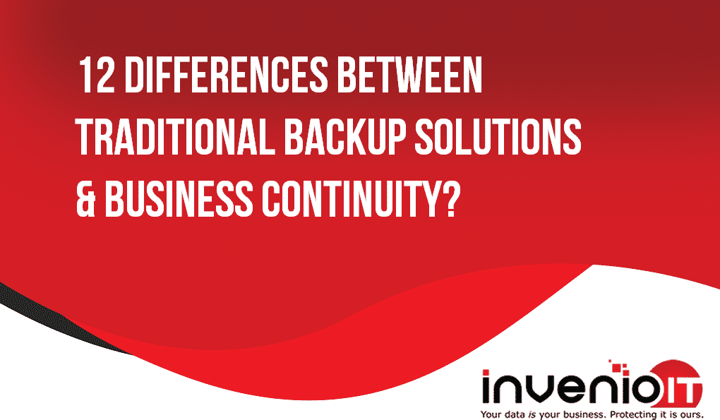traditional backup solutions and business continuity