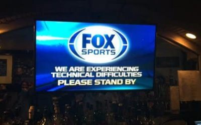 Embarrassing technical difficulties during the World Series
