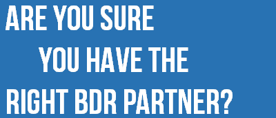 Find out if you have the best BDR partner for your business