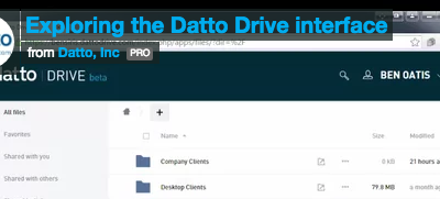 Introducing the amazing Datto Drive for file sync and share