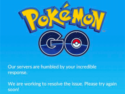 pokemon servers down