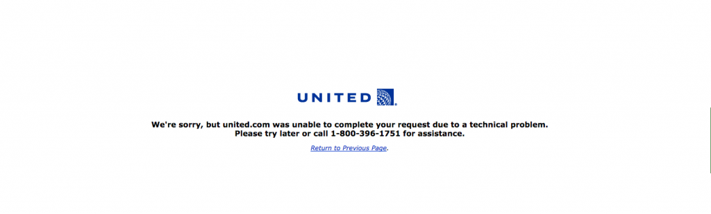 united airlines offline