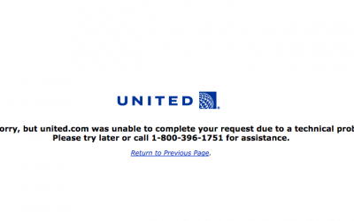 Massive meltdown – Perplexed United Airlines Offline again?